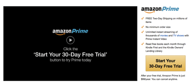 Online Subscription Page Amazon
