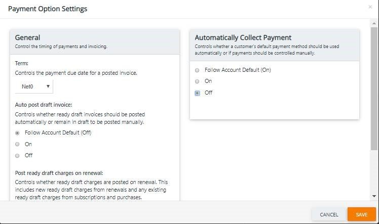 How to Turn Off Auto Collect - Recurring Billing