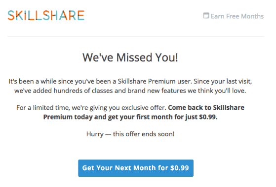 churn win back strategy we miss you email